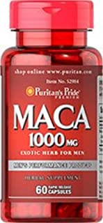 Maca 1000 mg Exotic Herb for Men 60 Rapid Release Caps Made in USA