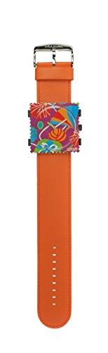 S.T.A.M.P.S. Stamps Uhr KOMPLETT - Zifferblatt Cocktail mit Lederarmband Classic orange