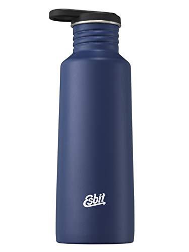 Esbit Drinking Bottle Pictor en acier inoxydable | sans BPA | Silver & Blue | 0,75 l & more | School, Water, Sport, Yoga, Mixte, Gourde, 410146, Bleu eau, 0.75L
