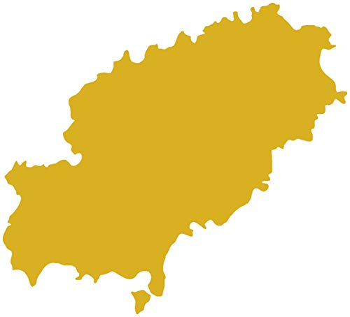 Samunshi® Ibiza Wandtattoo Insel in 4 Größen und 19 Farben (50x45cm goldmetalleffekt)