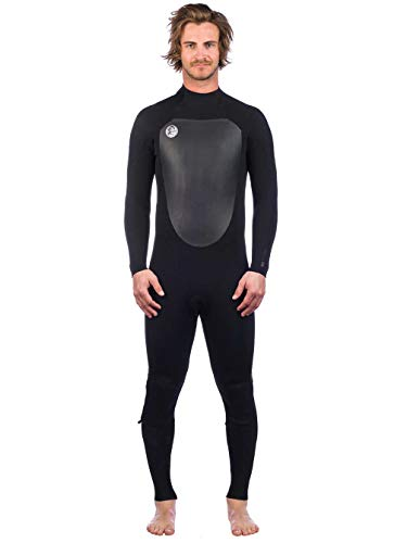 O'Neill O'; Riginal 4/3 mm wetsuit met ritssluiting aan de achterkant zwart – lichte stretch thermovoering – thermische warmte.
