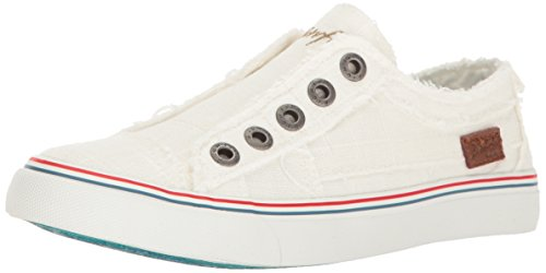 Blowfish Malibu womens Play Fashion Sneaker, White Cozumel Linen, 9 US