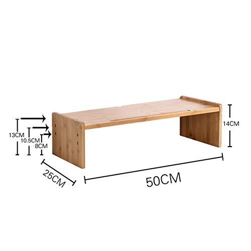 LVMEIHUA laptop-plank, multifunctioneel, opbergbox voor bureau-toetsenbord, bamboe, voor het optillen van de lijst voor op kantoor