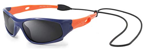 VATTER TR90 Unbreakable Polarized Sport Sunglasses For Kids Boys Girls Youth 816blueorange