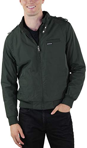 Members Only Men s Big and Tall Cold Weather Original Iconic Racer Jacket, Dark Green, 4X