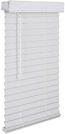 LOTUS WINDOWARE 2 Faux Wood Blind 36 x 48 White product image