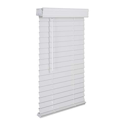 LOTUS & WINDOWARE 2' Faux Wood Blind, 35' x 60', White