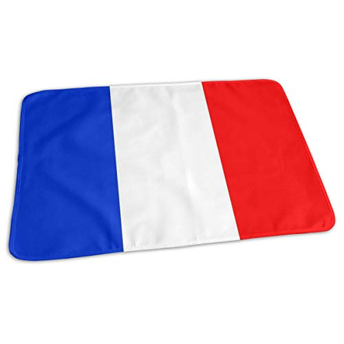 Changing Pad French Flag Best Baby Diaper Urine Pad Mat Personalized Girls Mattress Pad Sheet for Any Places for Home Travel Bed Play Stroller Crib Car