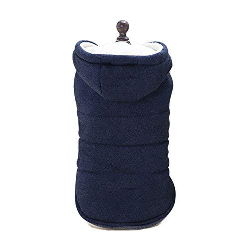 WJYD MdbH Ropa de Perro de algodón Puro para Perros pequeños, Abrigo de Perro Caliente de Invierno con Capucha, Suministros para Mascotas (Color : Blue, Size : XL)