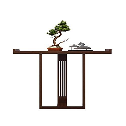 LIANG Mesa de consola de madera – Mesa estrecha de entrada, armario de pared para comedor, mesa auxiliar para pasillo, sala de estar, dormitorio 88 x 31 cm (color: 02)