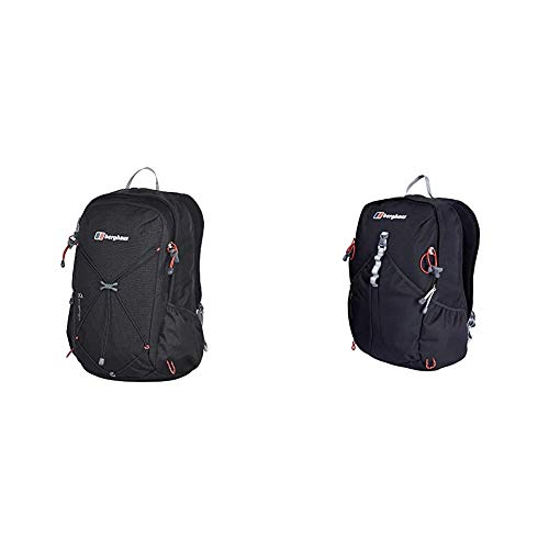 Berghaus Unisex's Twenty Four Seven Twentyfourseven Plus 30 Rucsac, Black, One Size & TwentyFourSeven Plus 25 Litre Outdoor Rucksack Backpack, Black