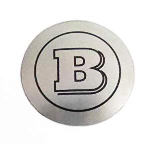 Brabus Style Logo – Shift Knob Emblem – Badge for Gear Shifter Knob – for Mercedes-Benz Vehicles – 1 pc – Diameter 1 7/64 inch - 2,8 cm – Silver-Gray Color