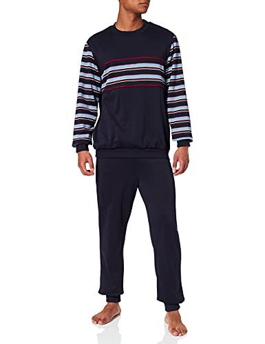 Damart Pyjama Thermolactyl Ensemble de pyjama Homme Bleu (Marine Rayé 08133) Large (Taille fabricant: L)