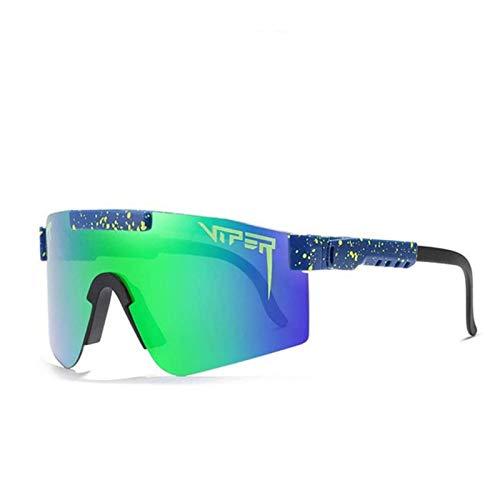 Dequate Sonnenbrille - Fahrradbrille Herren Damen, Anti-UV400 Polarisierte Sonnenbrille, Winddichte Outdoor-Fahrradbrille TR90 Unbreakable Frame