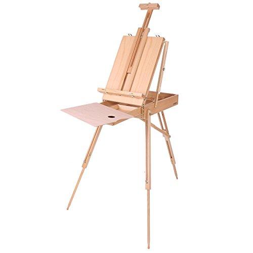 Caballete de pintura, caballete de madera, caballete de estudio de trípode (180 cm de alto), caballete de estudio, manualidades, para dibujar, artista, pintura