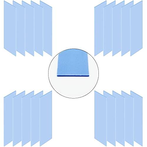 CTRICALVER Grosor 1.0 mm de Almohadillas de Silicona conductoras térmicas, Suave, Seguro, aplicar para SSD CPU GPU LED IC Chipset Cooling (20pcs)
