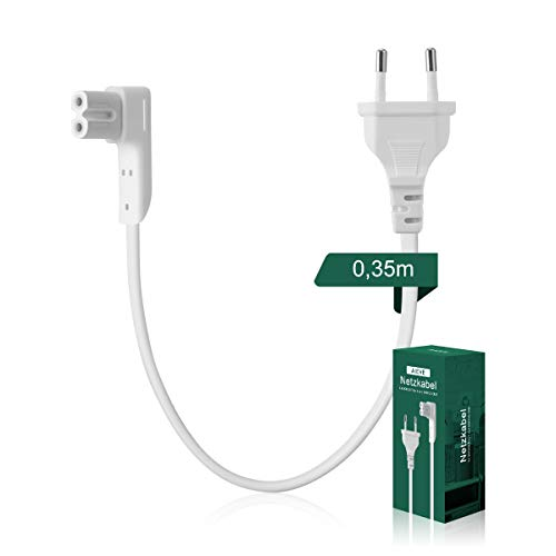 AIEVE 35cm Netzkabel Stromkabel rechtwinkliges Kabel Zubehör für SONOS Play:1, One SL und SONOS ONE WLAN Lautsprecher (weiß,EU Stecker)