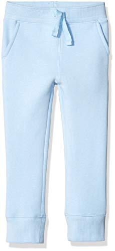 Amazon Essentials - Pantalón de chándal con forro polar para niño, Azul claro, US L (EU 134-140 CM)