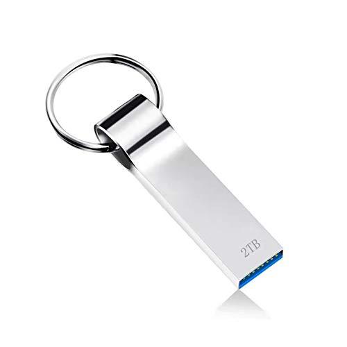 Kayboo Chiavetta USB 2TB Pendrive USB 3.0 Metallo Pen Drive Impermeabile Memoria USB Portatile Flash Drive USB Mini Pennette USB con Portachiavi per PC, Laptop, ecc (2000GB)