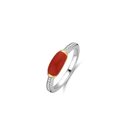 TI SENTO - Milano 925 Sterling Zilveren Ring 12191CR/52 (Maat: 52)