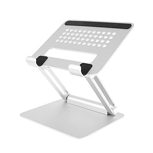 LXF JIAJU Supporto per Portatile da Taccuino Desktop con Supporto per Laptop Pieghevole Regolabile (Color : Silver)