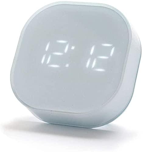 Väckarklockor, klocka NYHETSBESKRIVNING Larm Tunga släcker bord Sovrum Kids Desk Electric Digital Display Kylskåp Klistermärke Temperatur ºC/ºF Kvadrat 12/24 timmar Larm, B
