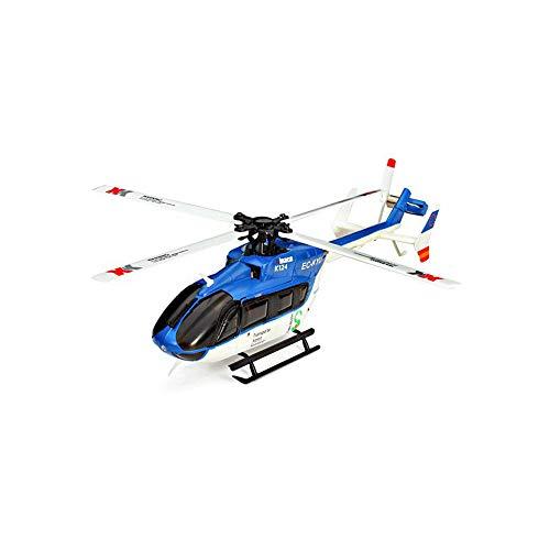 Helicóptero RC, helicóptero de controle remoto com giroscópio de 6 canais, mini helicóptero de brinquedo com controle remoto interno e externo para crianças e adultos, presente de iniciantes