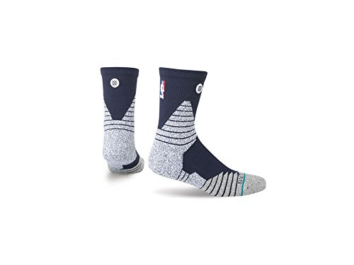 Stance - Chaussettes NBA Stance Solid Mid oncourt bleu marine taille - M