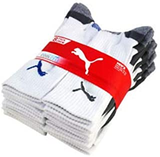 Puma Men's Crew Sock, 8 pair 9-11 white grey