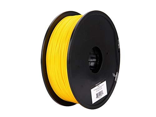 Monoprice, filamento 3D Premium in PLA Plus+ - Giallo - Bobina da 1 kg, spessore 1,75 mm   Biodegradabile   Stessa resistenza dell'ABS standard   Per tutte le stampanti compatibili con PLA