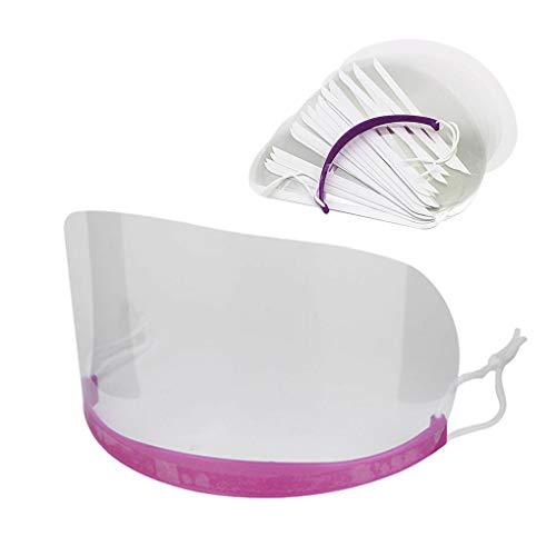 LWBTOSEE Transparentes Visier für Haarschnitt, Haarfärbemittel und Shampoo-Augenschutz, 50PCS(1 Lila Ohrhaken)