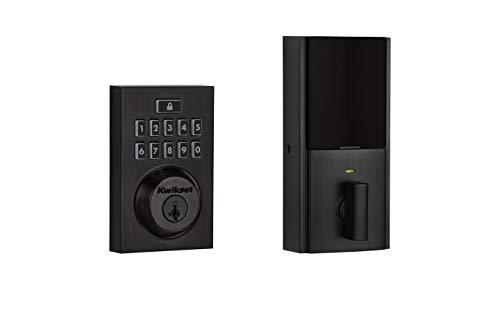 Kwikset 99140-020 SmartCode 914 Modern Contemporary Smart Lock Keypad Deadbolt with SmartKey Security and Z-Wave Plus, Venetian Bronze