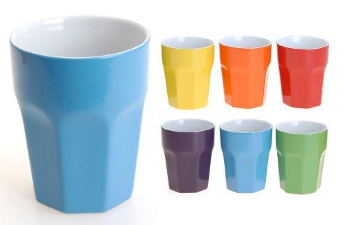 Kaffeebecher ohne Henkel 6 Unifarben 300 ml 12 Stück