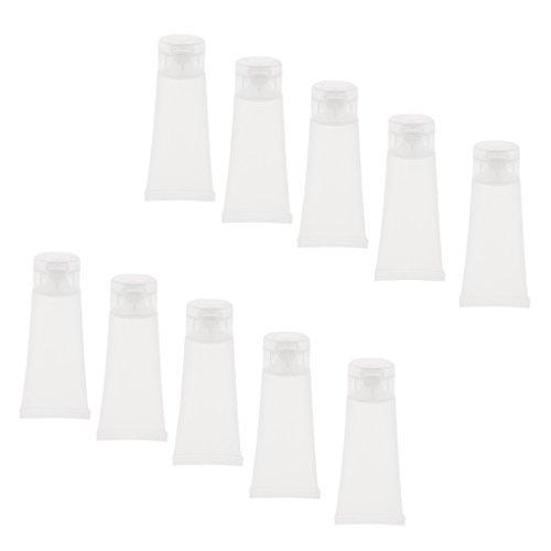 10 Piezas 10g / 15g Plástico Tubo Almacenaje Loción/Crema/Limpiador/Pasta