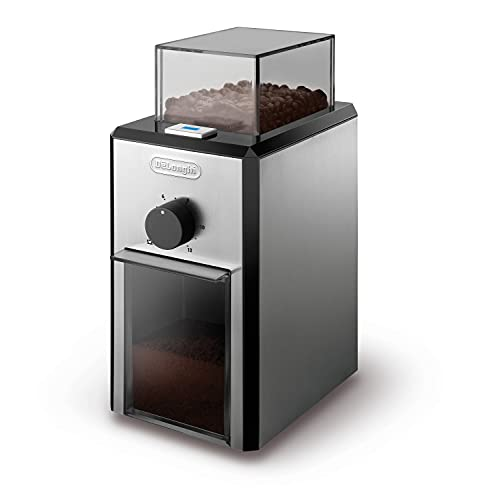 Delonghi KG89 Stainless Steel Burr Coffee Grinder, Silver