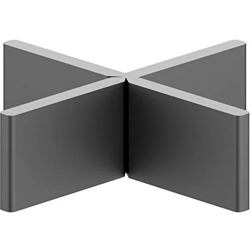 100 Stück Profi Fugenkreuze 3mm 4mm für Terrassenplatten Feinsteinzeug Abstandhalter Platten Kreuze nach DIN EN ISO 9001:2008 Höhe T-Stück Schenkel abbrechbar 100% recycelt (B/H/L 3mm/15mm/60mm)