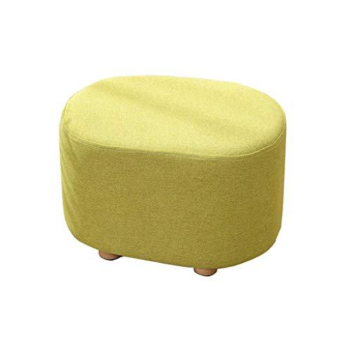 XLEVE Fußbank, Schaumstoff gepolstert Pouf Ottoman Fußraste Hocker Removable Leineneinband und Gleitsichere Holzbeine (Color : Green)