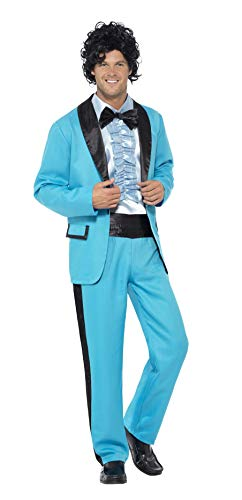 Men's 80's Prom King Costume by Smiffy's. Includes jacket, pants and mock tuxedo.