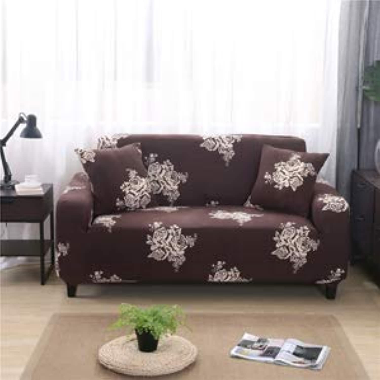 Print Slipcover Sectional Sofa Cover All-Inclusive Couch Case Tight Wrap Elastic  20180961, S 90-140CM