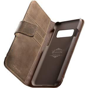 cellularline Supreme Book Hülle, Bookstyle Ledertasche mit Taschen, Ultra Schutz, passend für: Galaxy S10+, braun