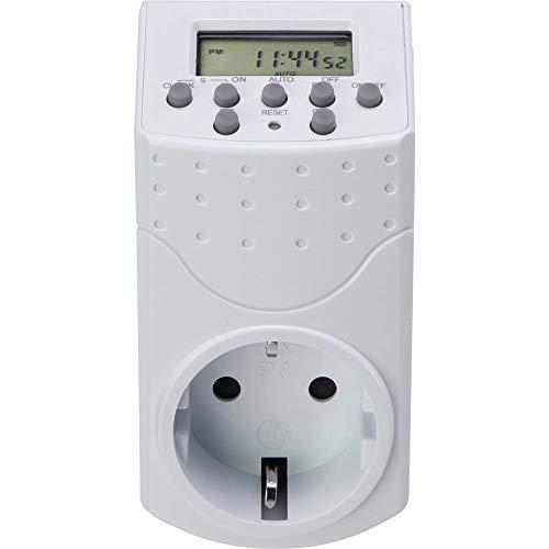 Basetech 1528580 Steckdosen-Zeitschaltuhr digital Wochenprogramm 1800 W IP20 Countdown-Funktion, Zufallsfunktion