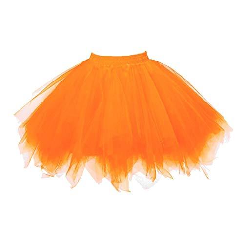 Momoxi Tutu Tüllrock 50er Rockabilly Unterrock Crinoline Petticoat Fasching Cosplay Underskirt Kurz Ballett Ballkleid Retro Abendkleid Tanzkleid Zubehör