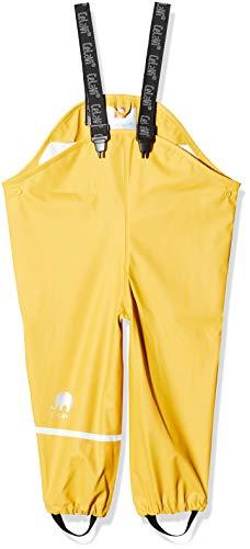 Celavi Baby-Mädchen Regenhose in viele Farben Regenjacke, Gelb (Mineral Yellow 372), (Herstellergröße:70)