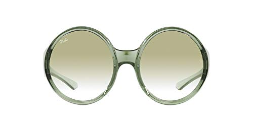 Ray-Ban 0RB4345 Gafas, Transparent Green, 58 Unisex Adulto