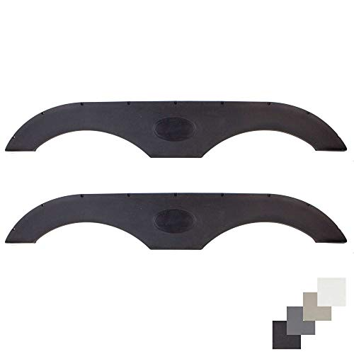 Alpha Systems Pair of RecPro Tandem Trailer Fender Skirt in Black for RVs, Campers and Trailers