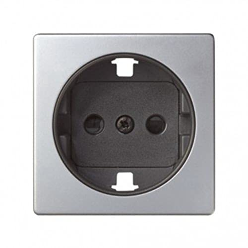Tapa serie 82 enchufe Schuko cargador doble USB Concept, 1 x 4 x 4 centímetros, color blanco mate (referencia: 8200049-090)