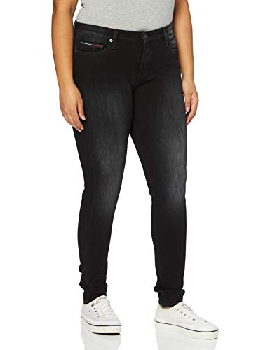 Tommy Hilfiger Mujer Nora Mr Skny Dybsabk Pantalones, Dynamic Bs Ava Black Str, W24/L34