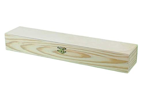 Caja rectangular madera. En crudo, para pintar. Ideal para pinceles. Medidas exteriores (ancho/fondo/alto): 35 * 7 * 5 cm.