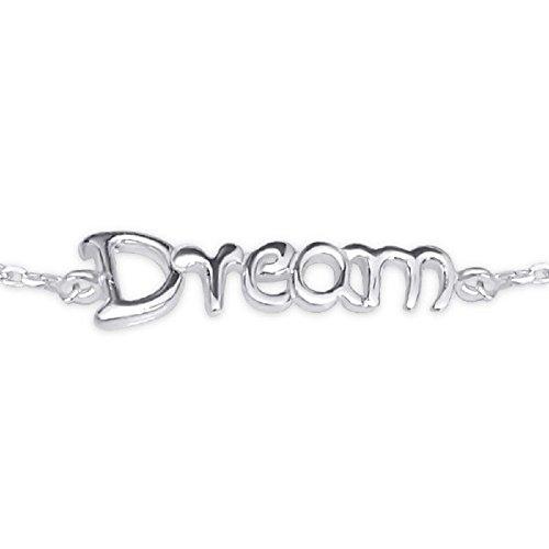 réglable Dream Bracelet à breloques – Argent Sterling 925 – Longueur : 18 cm/17,8 cm – Coffret cadeau inclus – La Rose & Silver Company – Rs0529