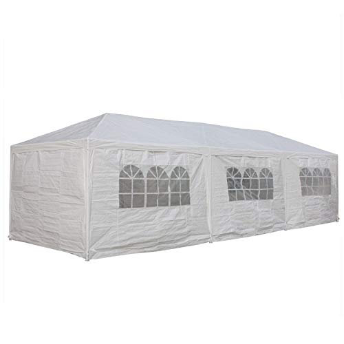 Delta 10'x30' Wedding Tent White - Party Gazebo Pavilion Catering Carport Shelter Canopies